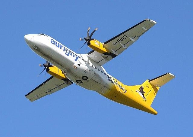 Eine ATR 42-500 der Aurigny Air Services