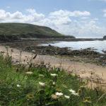 Alderney – Clonque Bay mit Fort Clonque an der Nordwestküste von Alderney
