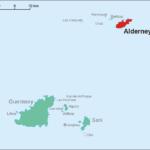 Alderney - Lage der Insel Alderney in der Bailiwick of Guernsey