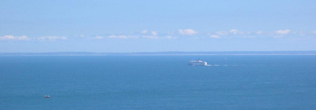 Halbinsel Cotentin - Blick von Jersey zur Halbinsel Cotentin