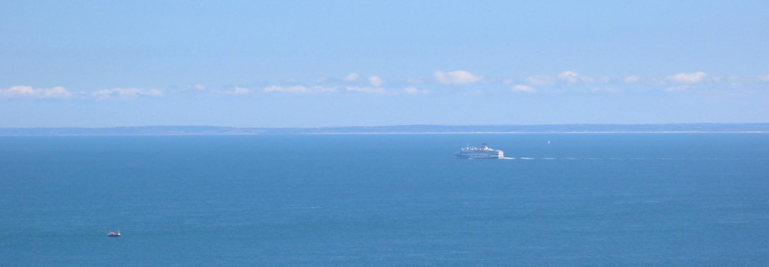 Halbinsel Contentin – Blick von Jersey zur Halbinsel Contentin