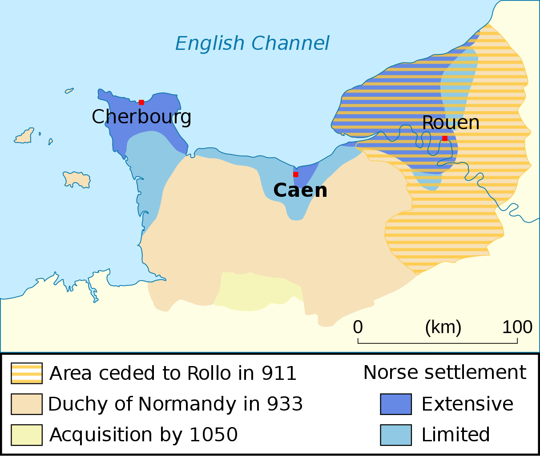 Herzogtum Normandie - Entwicklung des Staatsgebietes