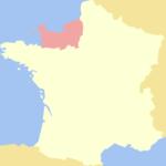 Herzogtum Normandie - Lage innerhalb Frankreich