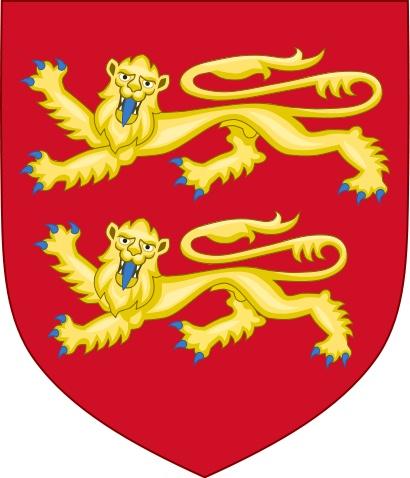 Herzogtum Normandie - Wappen Herzogtum Normandie (zugleich Wappen Wilhelm der Eroberer)