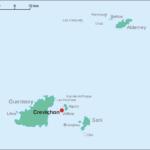 Die vor Guernsey gelegene Insel Crevichon