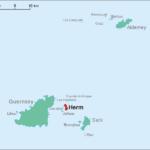 Karte mit der Position von Herm innerhalb der Kanalinseln