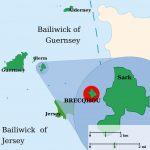 Die Position der Kanalinsel Brecqhou
