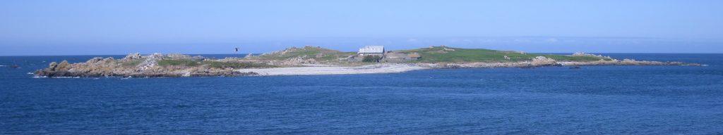 Panoramabild von Lihou in der Nähe von Guernsey