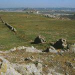 Reste einer alten Grenzmauer auf Lihou