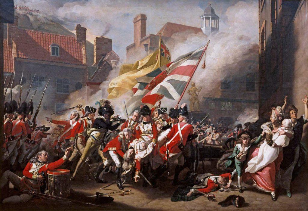 John Singleton Copley - Der Tod des Major Peirson (bei der Schlacht um Jersey)